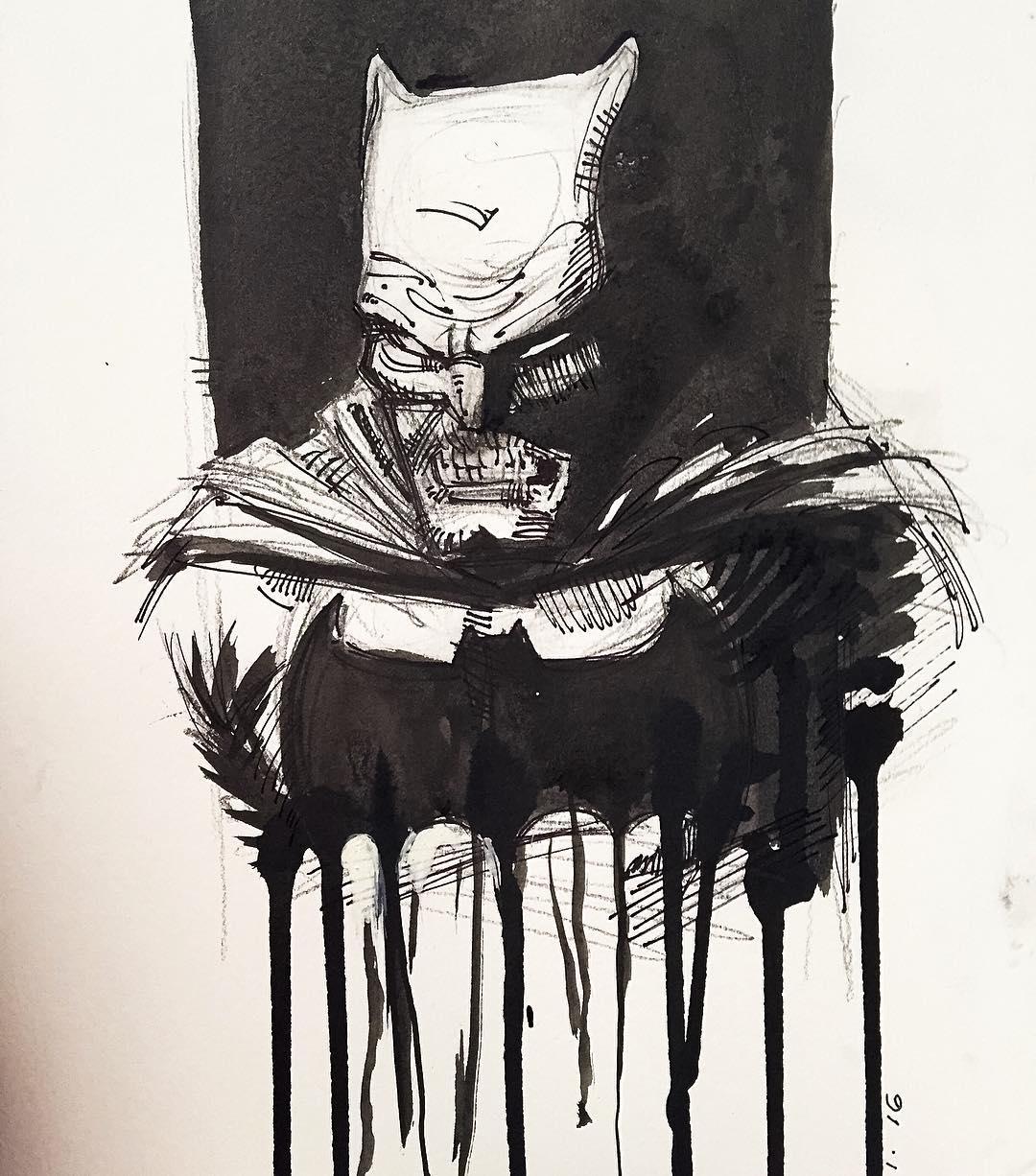 1080x1226 Frank Miller Batman Drawing