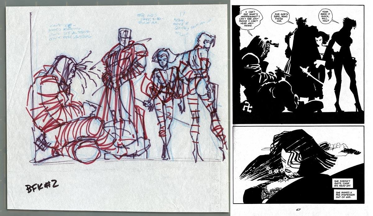 1200x696 Sin City Prelim, In J. Sid's Frank Miller Comic Art Gallery Room