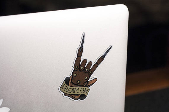 570x380 Freddy Krueger Sticker Dream On Sticker Horror Sticker