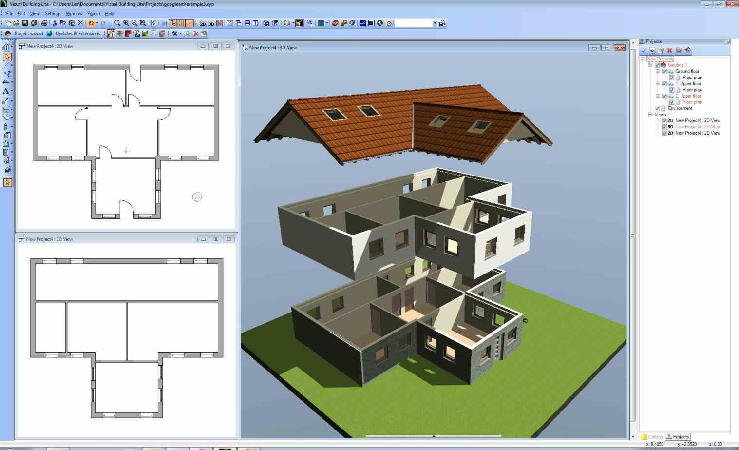 Free building drawing at free for for Project drawing software