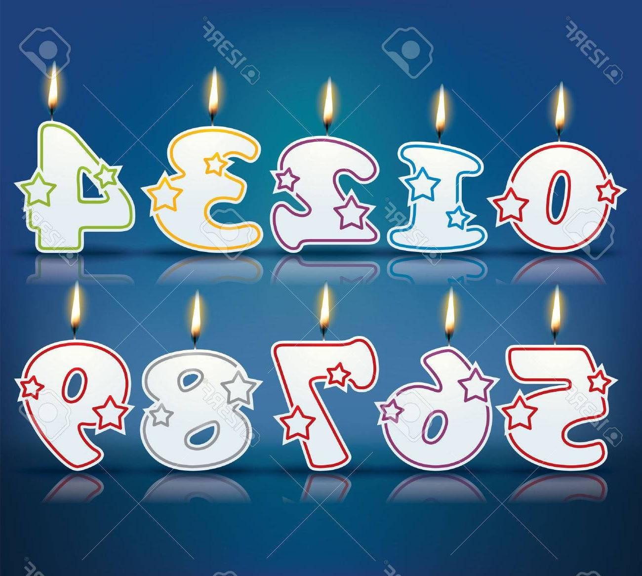 1300x1166 Top 10 Birthday Candle Numbers With Flame Drawing