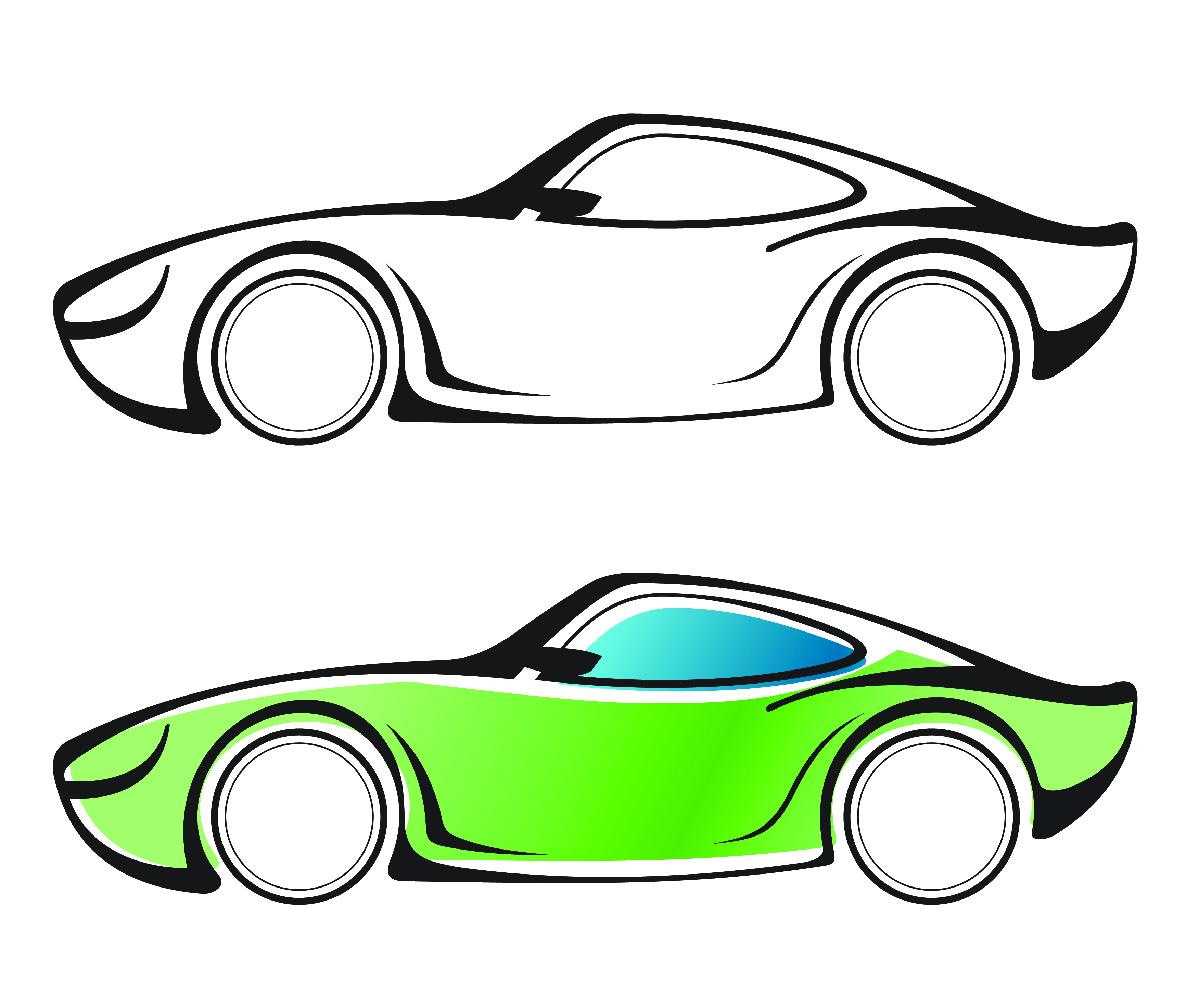 3465x2945 Line Drawing Car Vector Free Vector 4vector