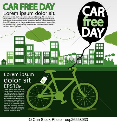 450x469 World Car Free Day. September 22nd World Car Free Day Vectors