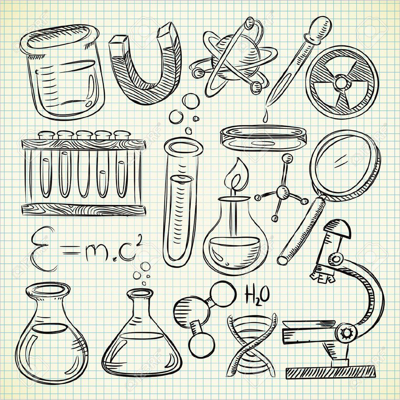 chemistry drawing science stuff doodle getdrawings