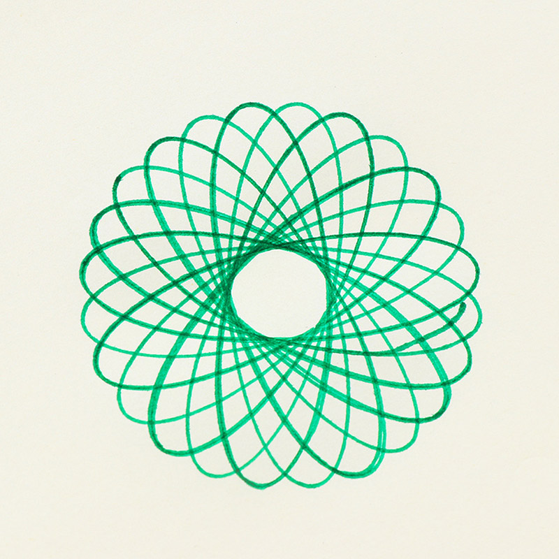 800x800 20cm Cute Kawaii Plastic Spirograph Ruler Circle Drawing Template