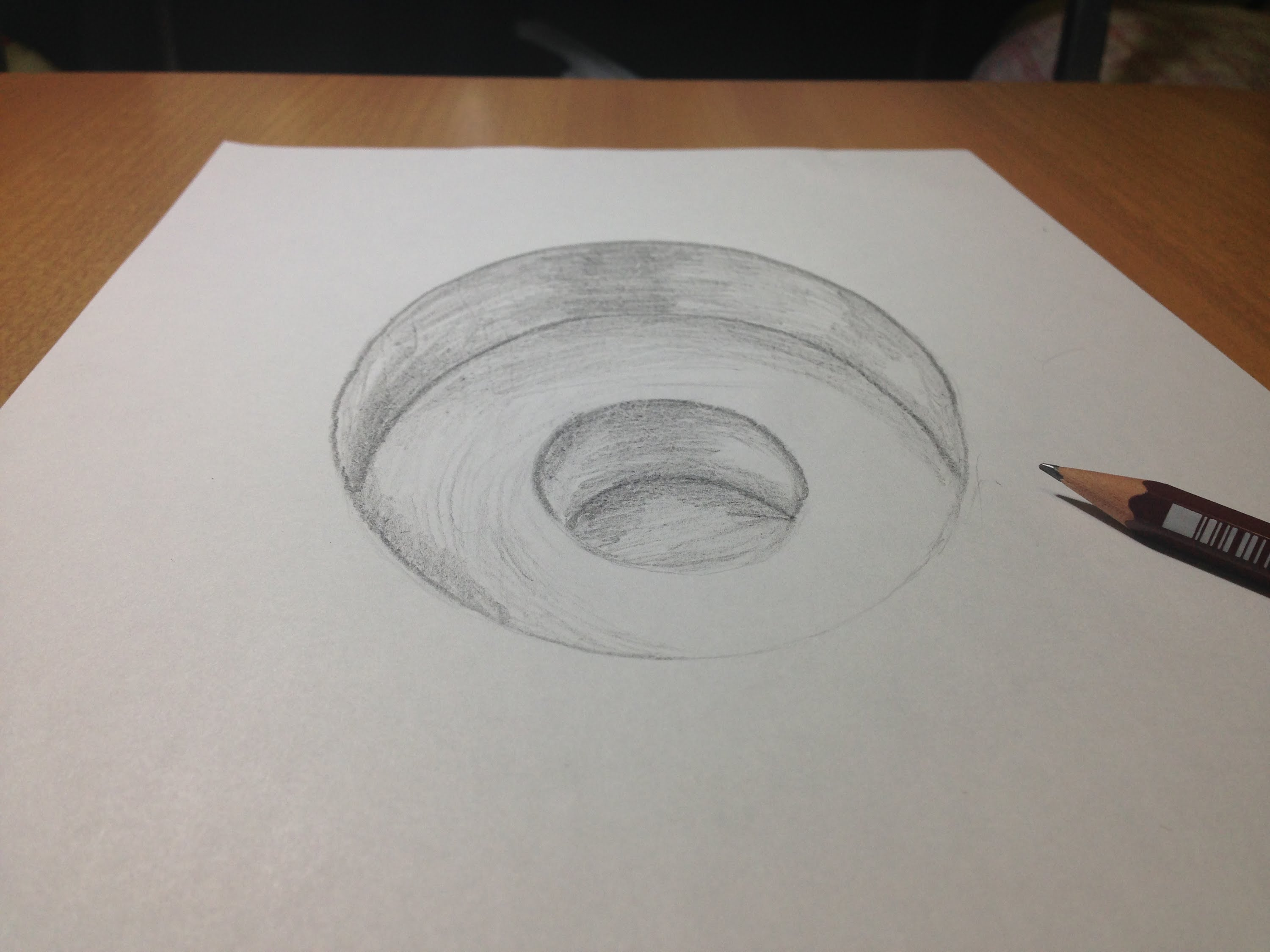 3000x2250 3d Freehand Drawing, 3d Hole