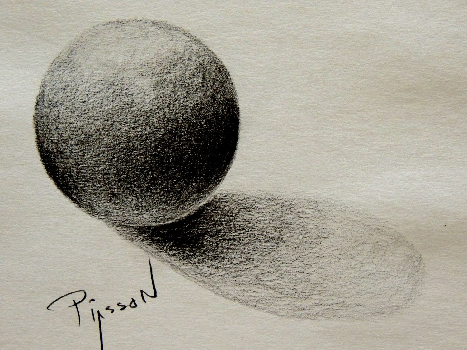1500x1125 Freehand Drawing A Circle And Sphere Shade 3d Easy Lesson By