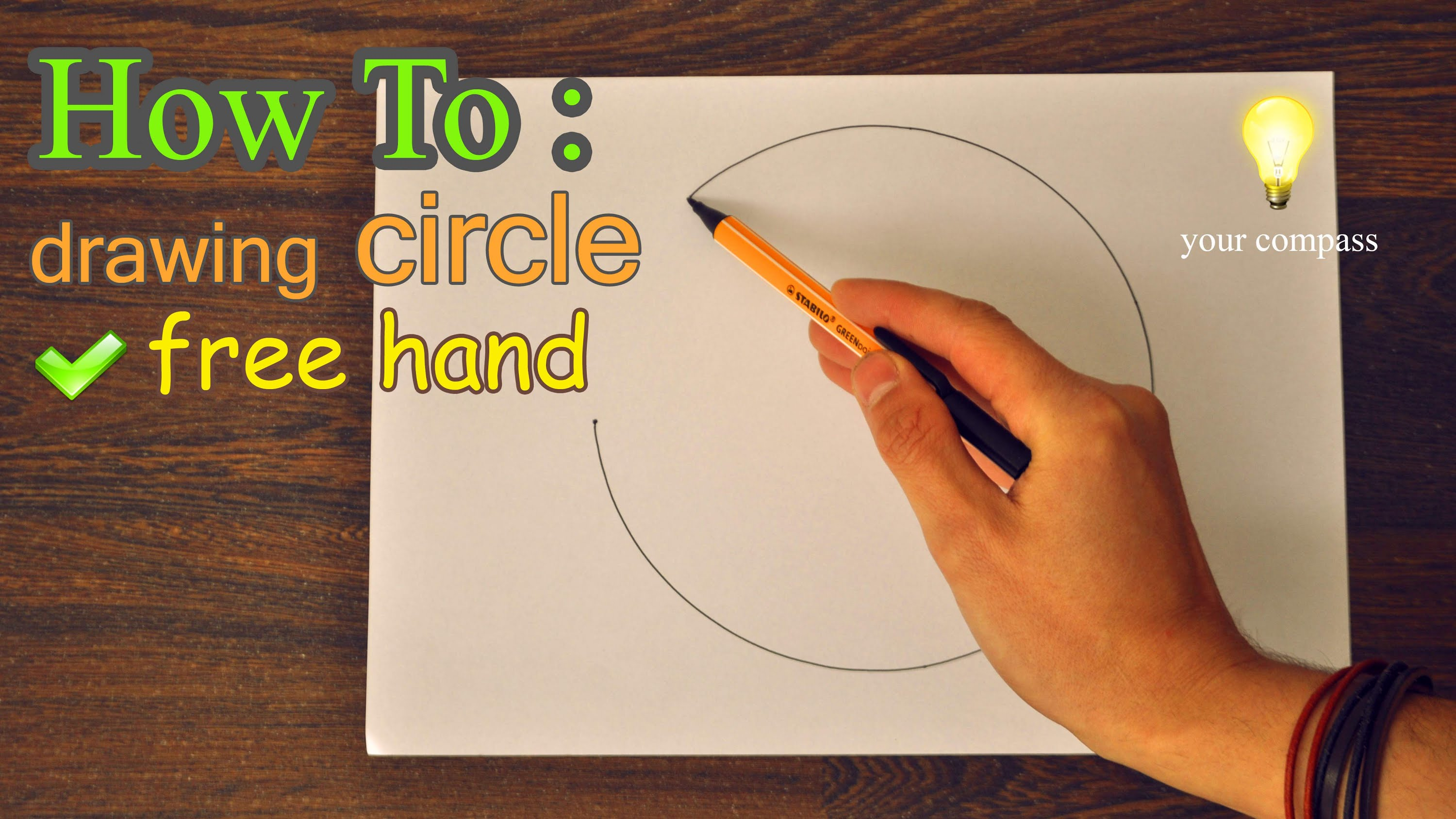 3000x1688 How To Draw Freehand A Perfect Circle Tutorial