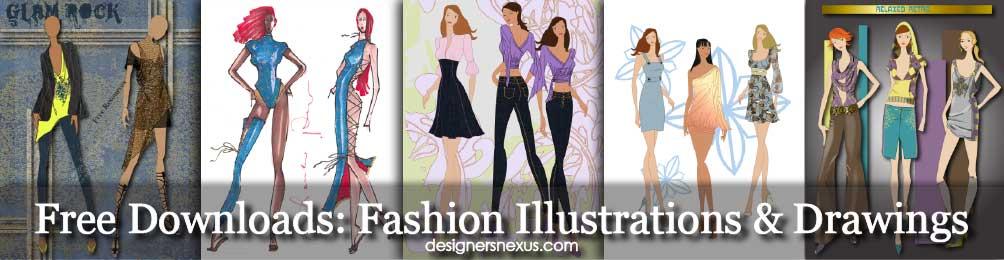 1004x260 Fashion Drawings Free Downloads