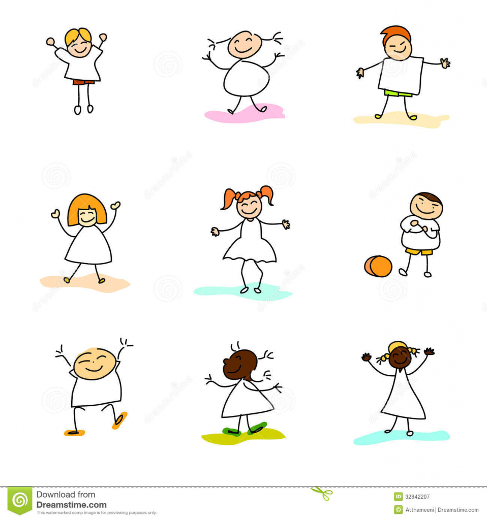 958x1024 Free Download Drawing For Children Hand Drawing Happy Kids Royalty