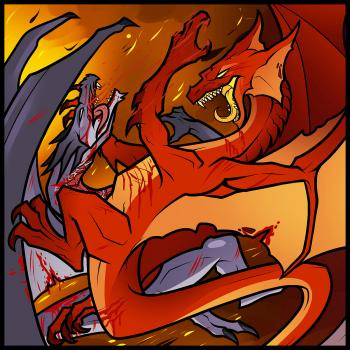 350x350 How To Draw Dragons Fighting, Dragons Fighting, Step By Step