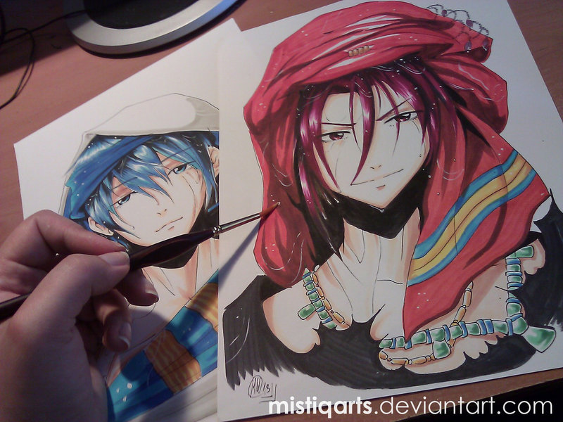 800x600 Free! Iwatobi Swim Club Rin Copic Drawing By Mistiqarts