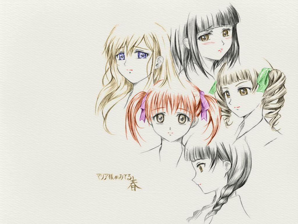 1024x768 Free Anime Drawing Anime Drawings Free Anime Drawing Wallpaper