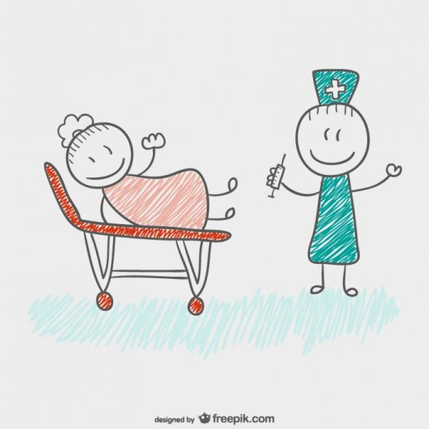 626x626 Children Drawing Doctor Vector Free Download