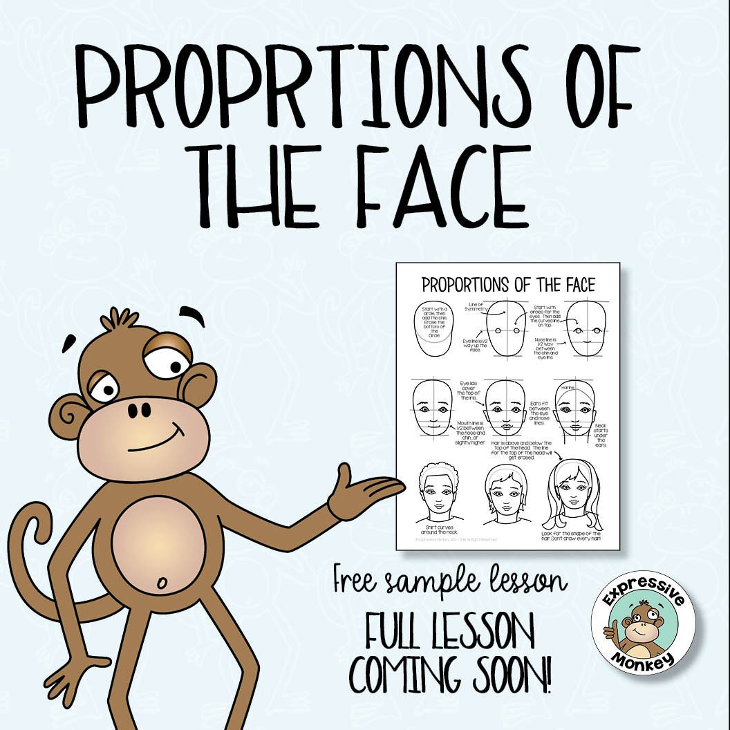 1056x1056 Drawing A Face A Free Sample Expressive Monkey