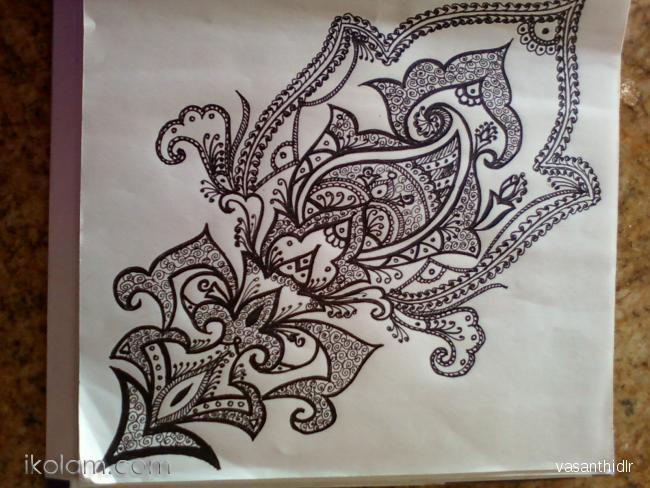 650x488 Rangoli Freehand Design Freehand