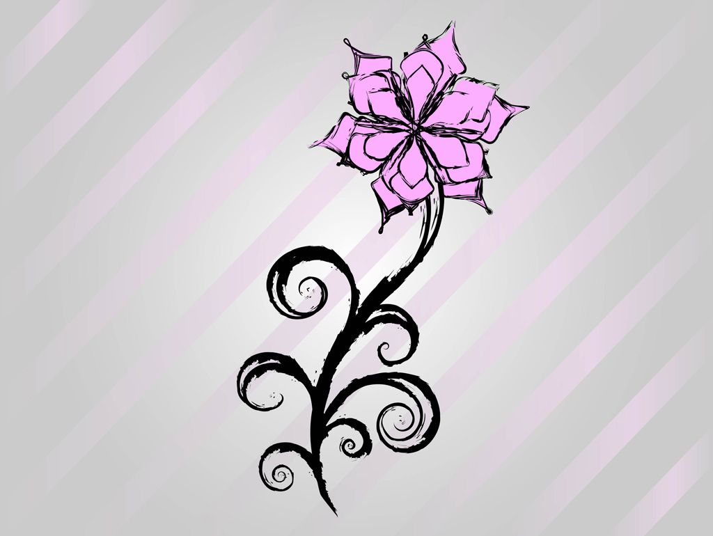 1024x770 Cool Easy Flower Designs To Draw On Paper Free Flower Vector
