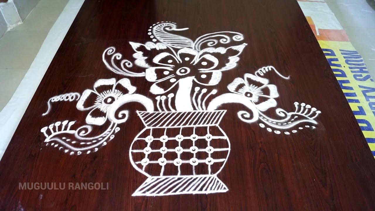 1280x720 Rangoli Free Hand Best Free Hand Rangoli Designs Free Hand