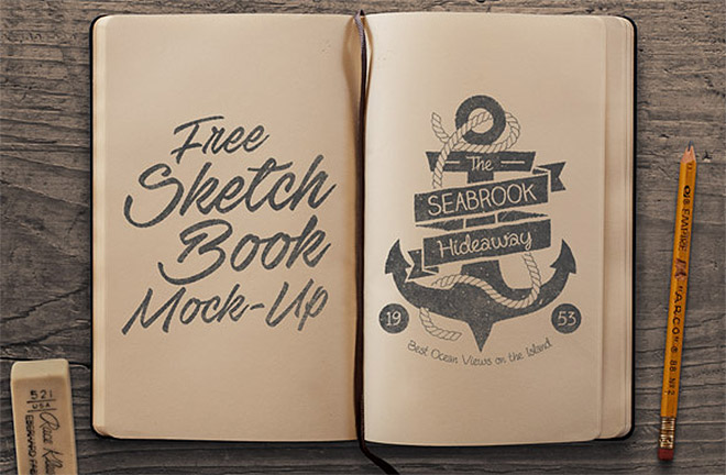 660x432 25 Free Psd Templates To Mockup Your Sketches Amp Drawings Mockup