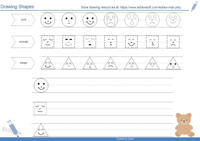 650x459 Drawing Shapes Worksheet Free Drawing Shapes Worksheet Templates