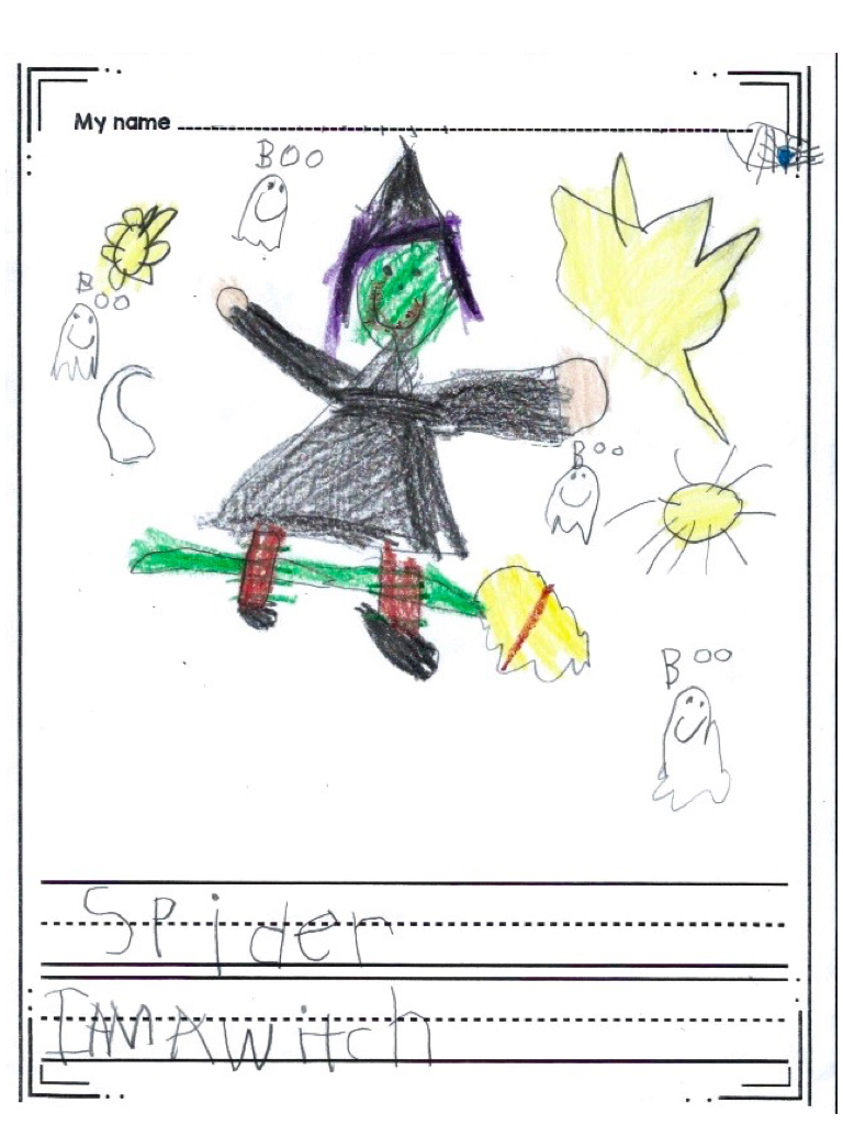 768x1024 Halloween Witch Directed Drawing Activity For Kindergarten