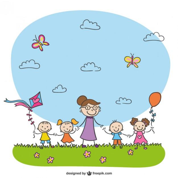 626x626 Kindergarten Drawing Vector Free Download