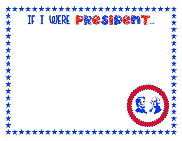 700x541 If I Were President Drawing Page