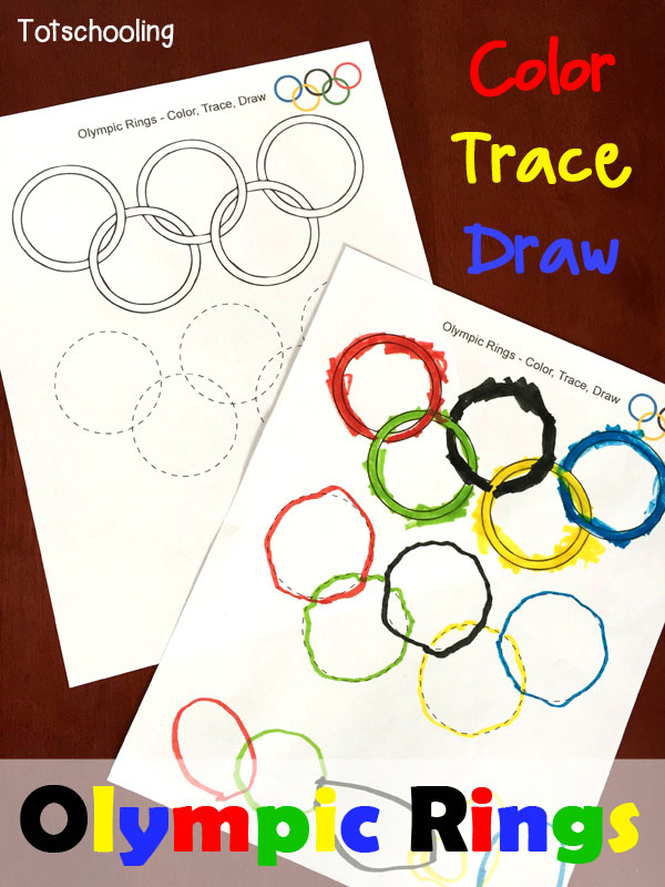 600x800 Olympic Rings Coloring, Tracing Amp Drawing Sheet Totschooling