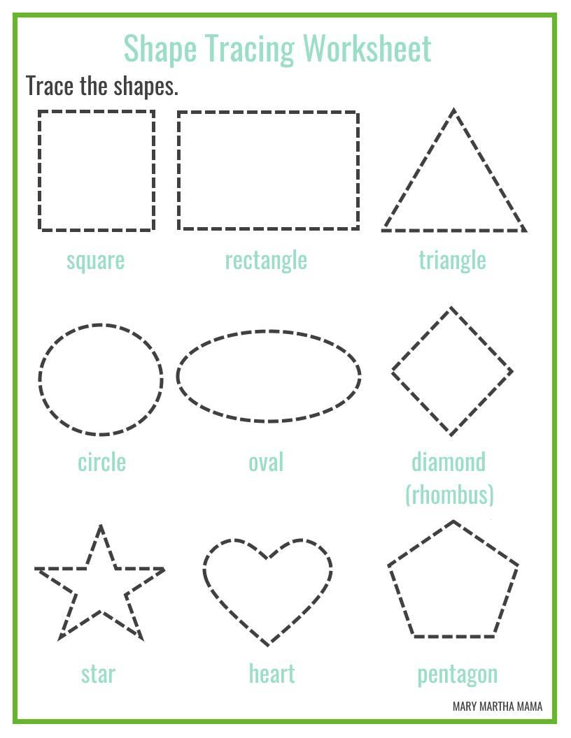 816x1056 Shapes Worksheets For Preschool [Free Printables] Mary Martha Mama