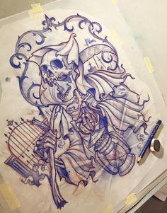 236x301 Tattoo Sketches Skull Tattoo Flash For Free, Skull, Tattoos