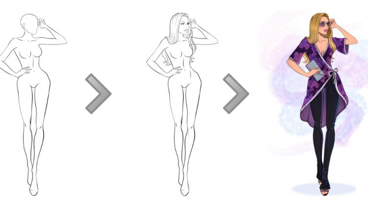 Free Fashion Drawing at GetDrawings.com | Free for personal use Free ...