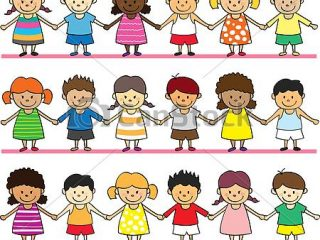 320x240 Free Kids Drawing Cute Kid Holding Hands Vectors Search Clip Art
