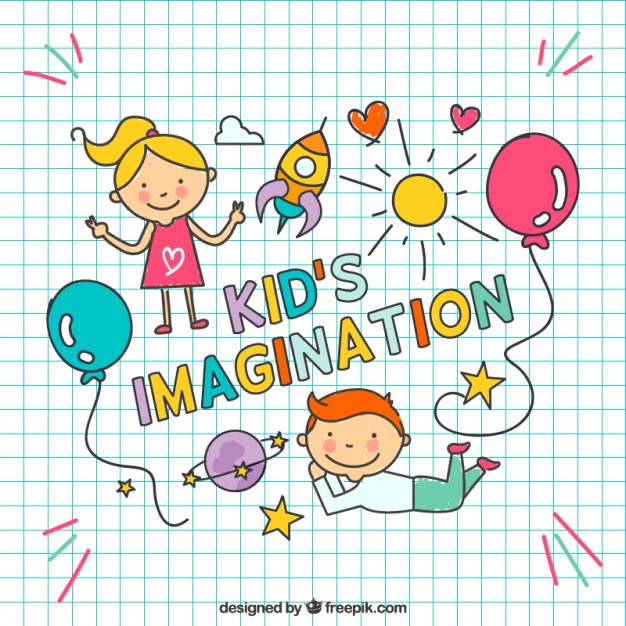 626x626 Hand Drawn Kids Imagination Vector Free Download
