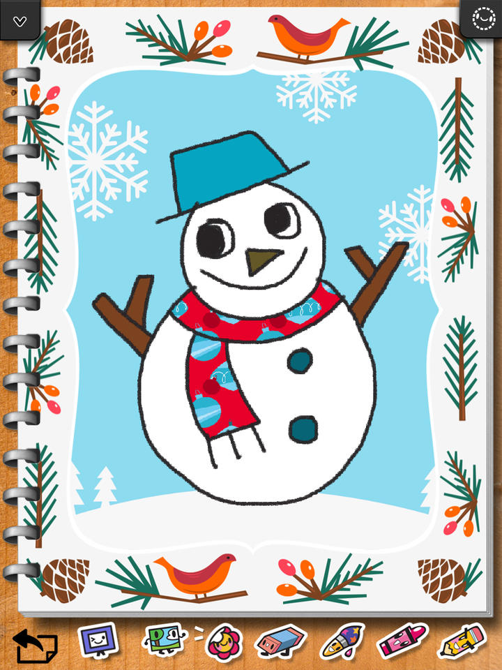 720x960 Kids Drawing Christmas