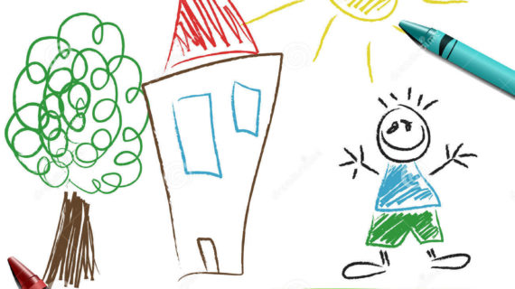 570x320 Picture Of Drawing For Kid Crayon Set With Kid Drawing Royalty