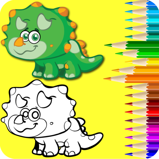 512x512 Color The Dinosaurs Kids Dino Coloring Drawing Fun App Free
