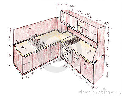 400x313 Kitchen Design Drawing