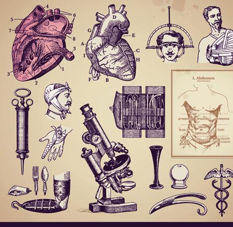 474x462 Vintage Medicine Elements Vector Printables