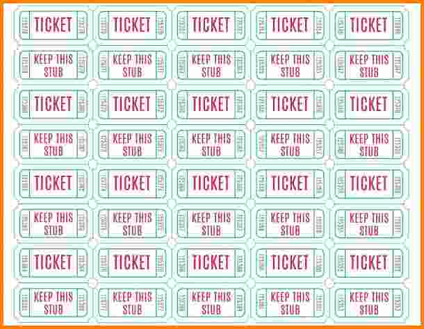 photograph about Free Printable Raffle Tickets With Stubs referred to as Absolutely free Printable Drawing Tickets at  No cost for