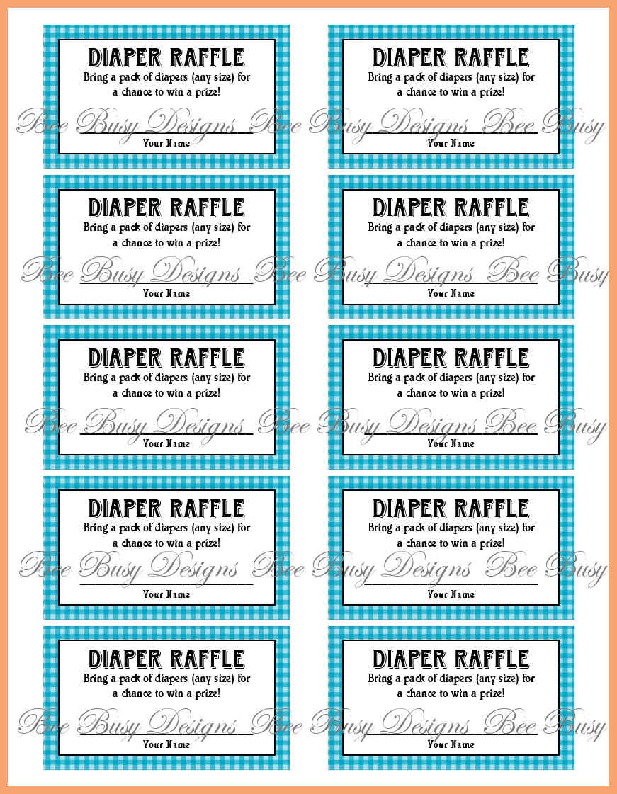 picture about Free Printable Baby Shower Diaper Raffle Tickets named No cost Printable Drawing Tickets at  Free of charge for