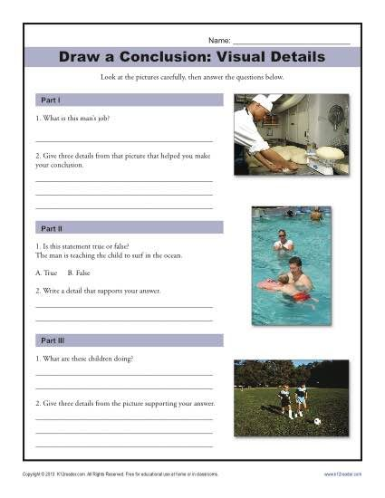 425x550 Visual Details Drawing Conclusions, Worksheets And Free Printable