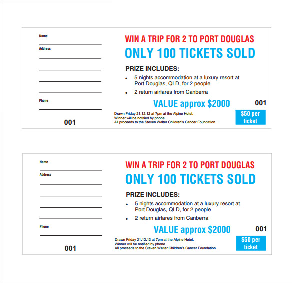 585x567 sample raffle ticket template 22 pdf psd illustration word tombola