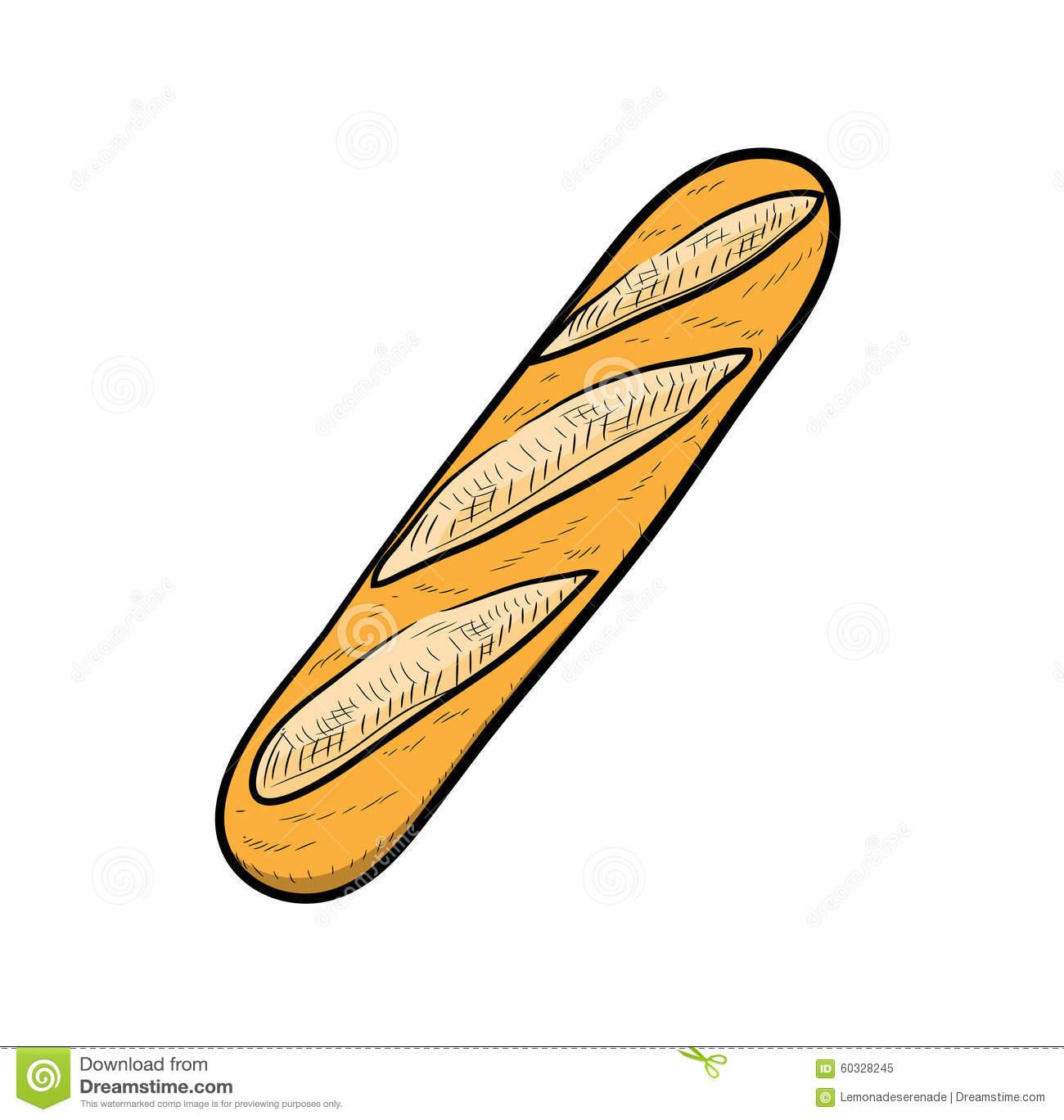 1300x1368 Drawn Bread French Bread