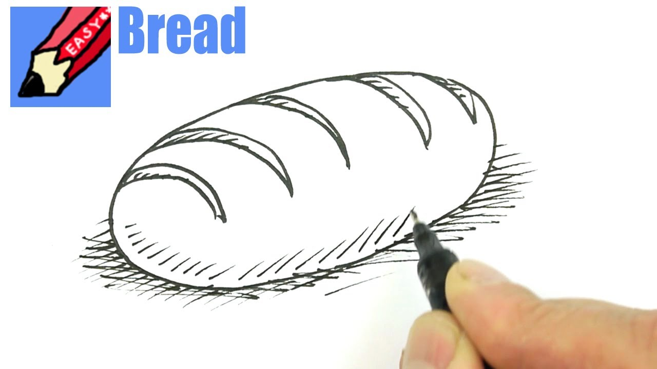 1280x720 How To Draw A Loaf Of Bread Real Easy