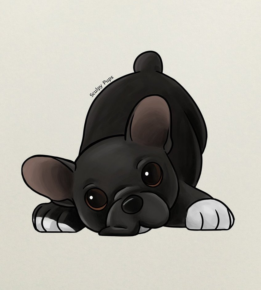 848x941 French Bulldog Puppy Drawing By Sculptedpups