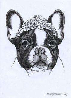 236x323 Jeff, The French Bulldog. Art I Make.