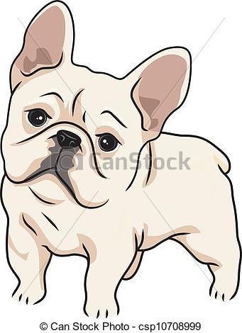 341x470 Cute French Bulldog Drawing