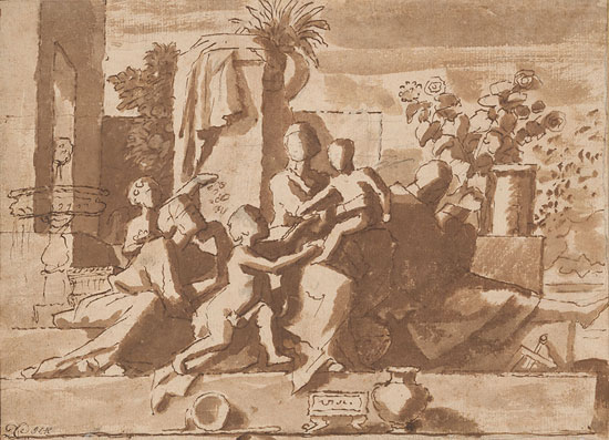 550x397 Poussin, Claude, And French Drawing In Classical Age