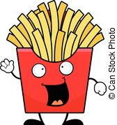168x179 Freehand Drawn Cartoon French Fries Vector