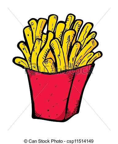 384x470 French Fries Doodle Eps Vector